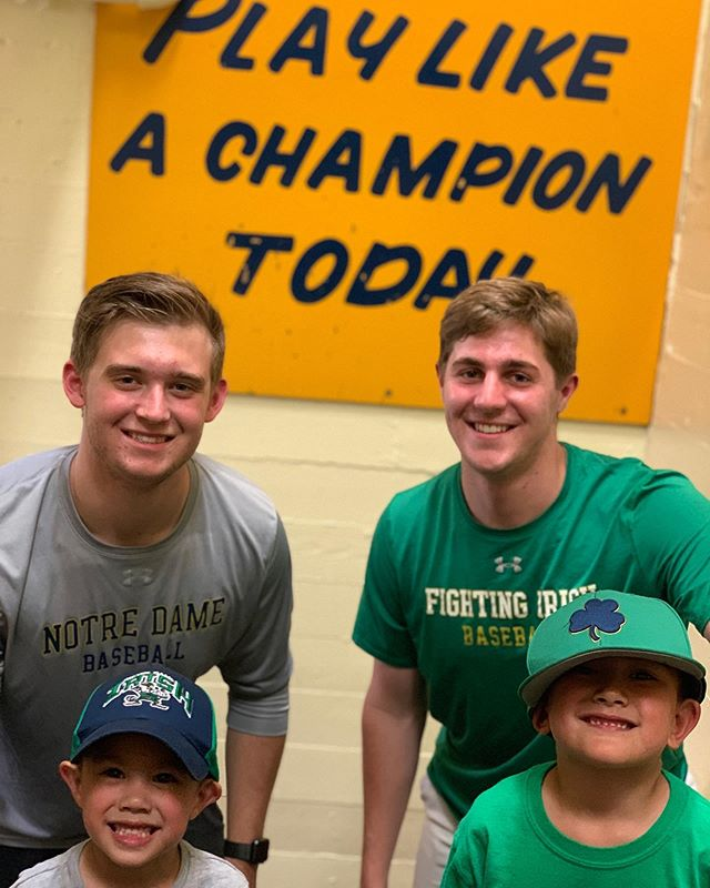 Play Like A Champion Today! ☘️ #MondayMotivation from our FIFFL Teammate Ethan and @notredamebaseball ‼️