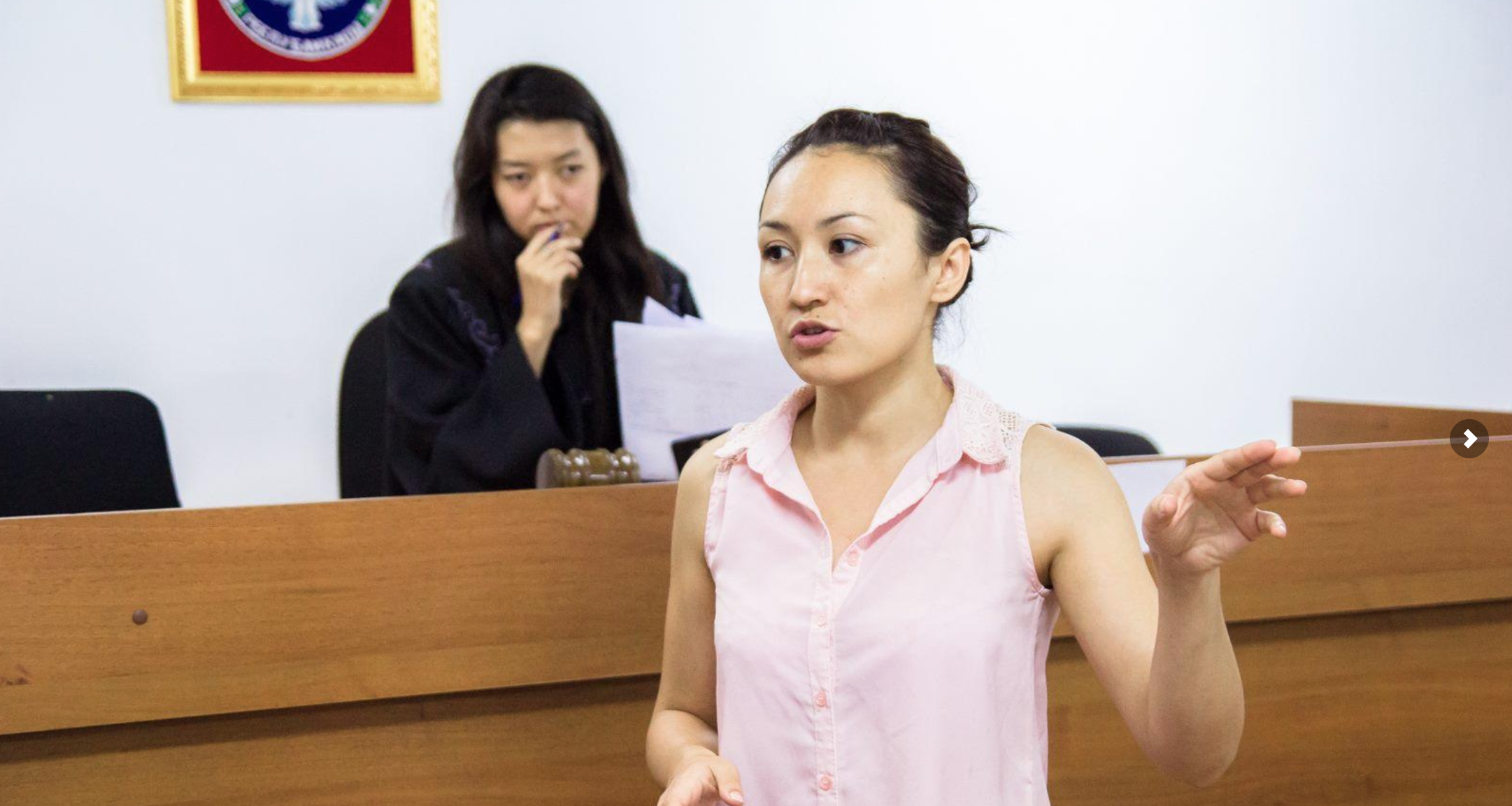 Students participate in mock trial in Kyrgyzstan