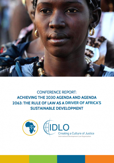 Report: Africa Rule of Law Conference for Sustainable Development Report
