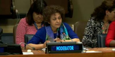 Leaving no women or girls behind - D-G Irene Khan at the UN HLPF