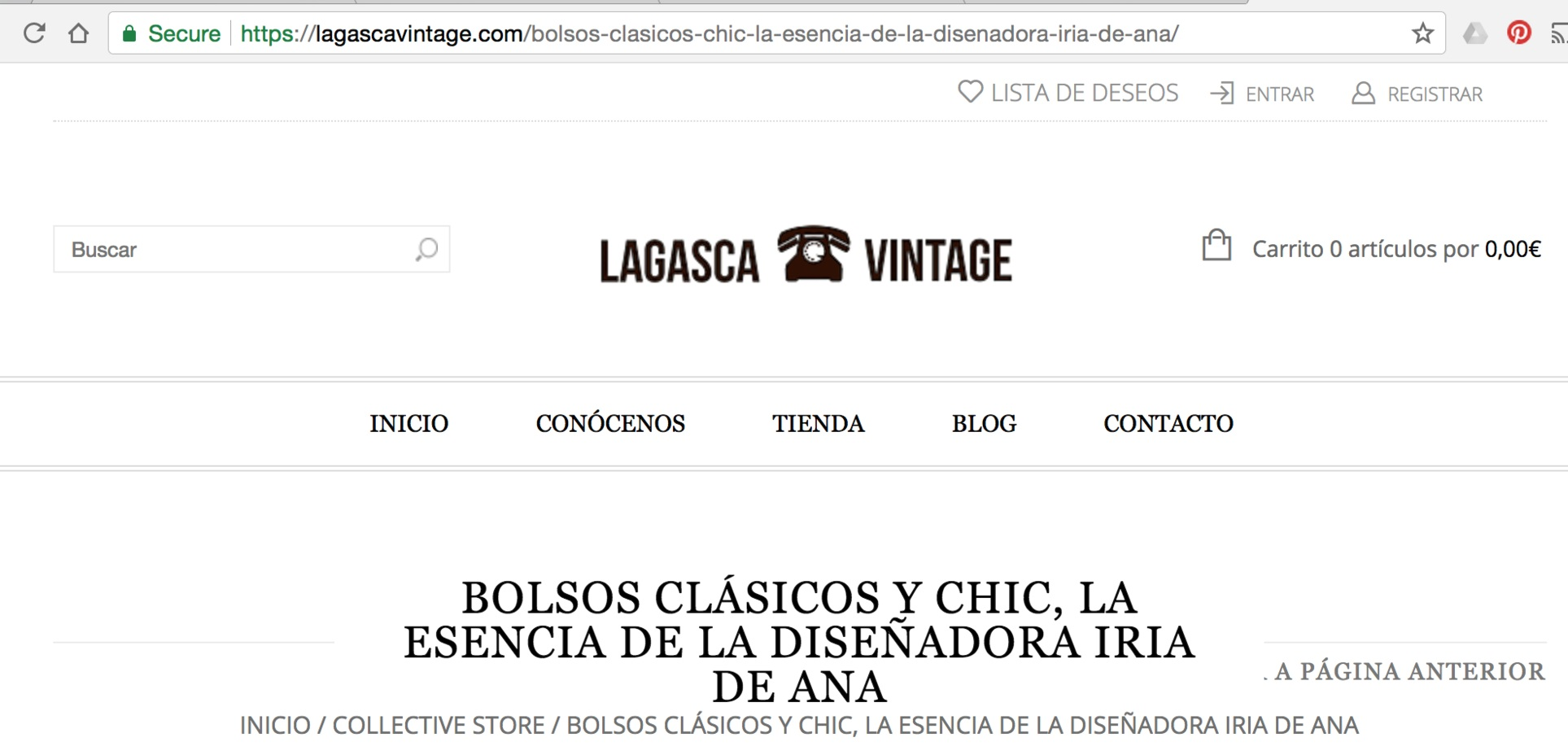 Lagasca Vintage's blog - https://lagascavintage.com/bolsos-clasicos-chic-la-esencia-de-la-disenadora-iria-de-ana/