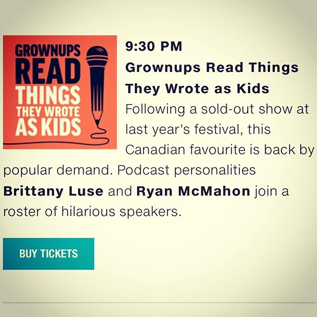 #Toronto: tickets are now on sale for #hotdocspodfest and I'll be there opening night doing comedy with the good people at GRTTWAK. This show will sell out, don't sleep!