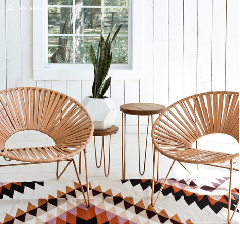 ALDAMA CHAIR  (in copper + natural)