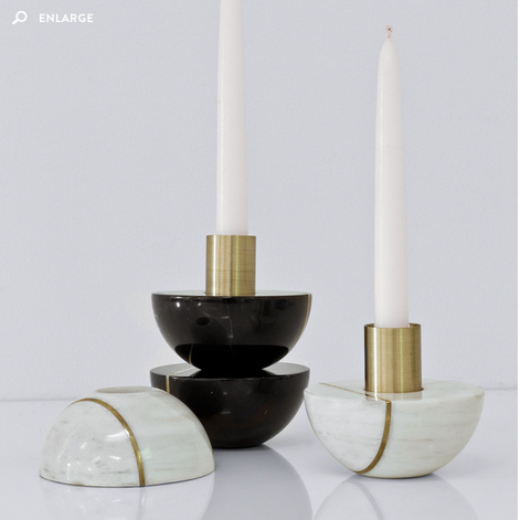 HAURI CANDLEHOLDER  (in light or dark)