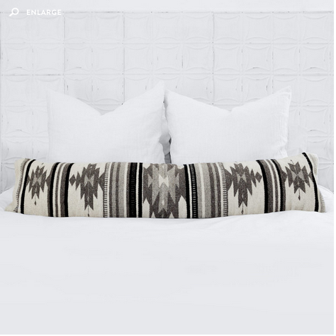 CENIZA LUMBA PILLOW  (perfect for that white bedroom)