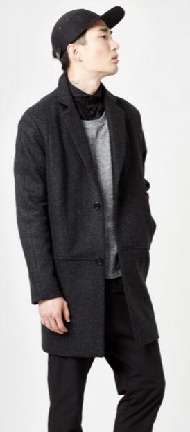 ROHE minimal wool coat