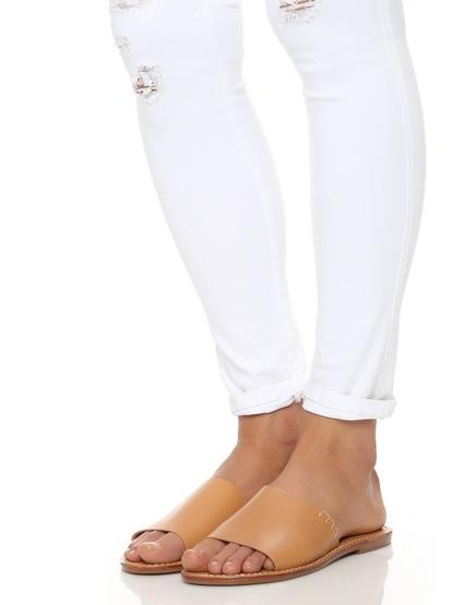 Soludos: Leather slide sandals
