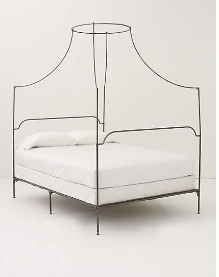 Anthropologie: campaign canopy bed