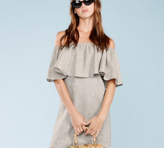 REFORMATION: Tennessee Dress in Oatmeal