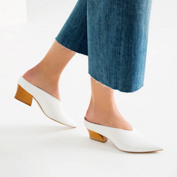 Leather mule shoes