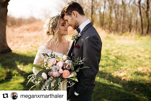 #Repost @meganxmarthaler with @get_repost ・・・ What a dreamy day!! 🥰 Extra thankful for the amazing weather we had throughout the evening! I mean cmon look at that green green grass 😍Everything came together so beautifully thanks to all of our amazing vendors. Cheers to you all! 🌼🌼🌼 . . . . . Photographers: @meganxmarthaler + @bluedorrphotography  Venue: @prairiewoodsgolfcourse  Dress + Tux: @tulle_bridalboutique  Flowers: @generationswfnp  Rings: @condonjewelers  Hair: @makeoverbymegan31  Makeup: @ken.z.hair  Cake: @dreaded_dani