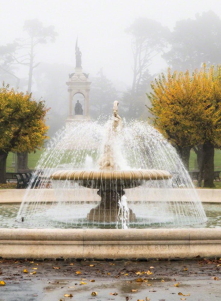 Rideout Fountain, Autumn