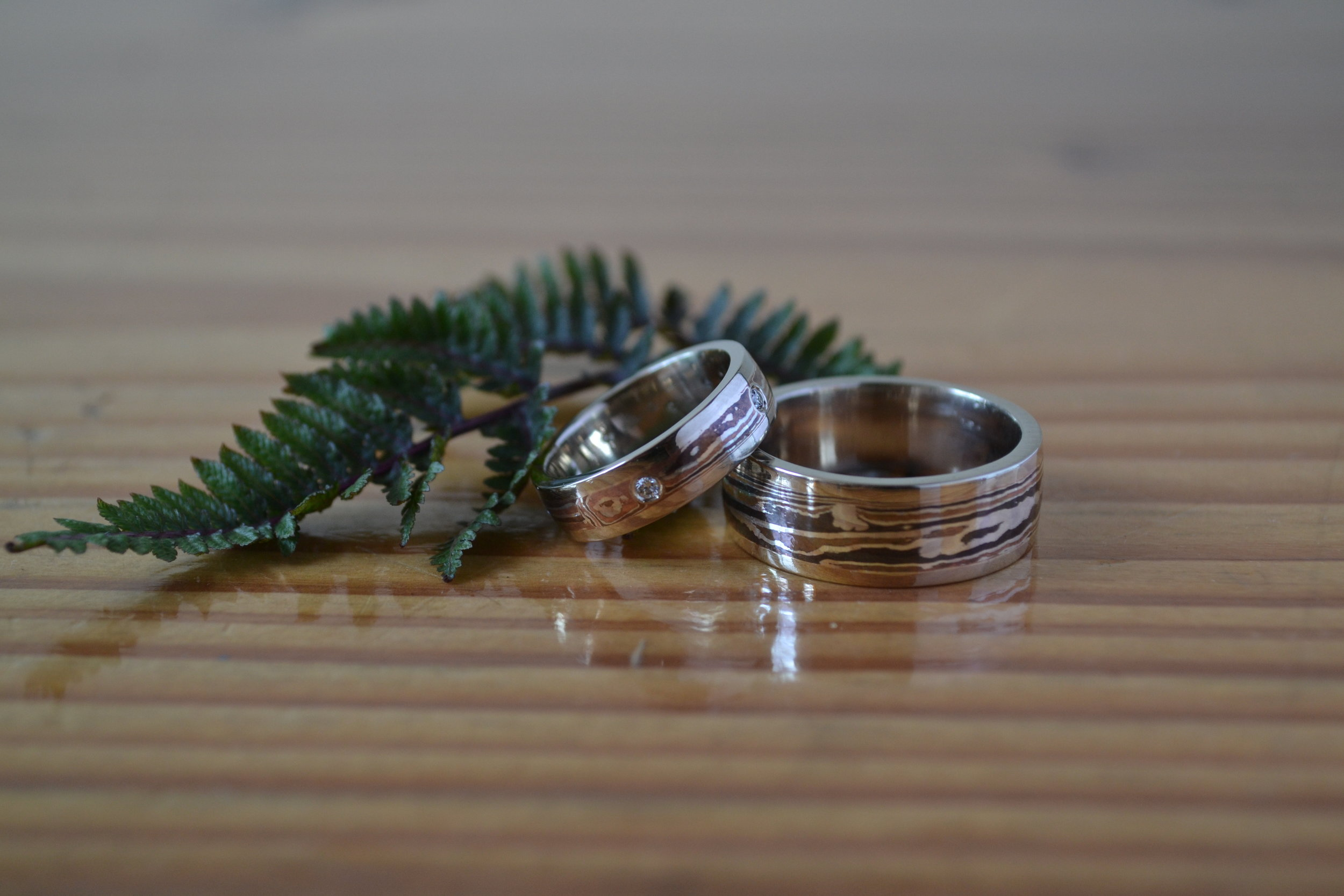 And finally... Diamonds!! Beautiful unique rings for a beautiful and unique couple!