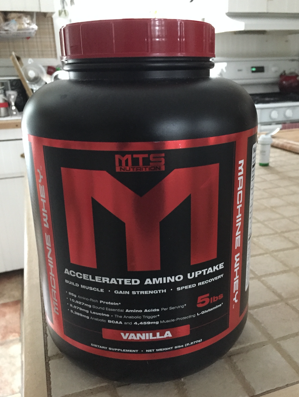 This looks intimidating, but it's really just vanilla protein powder.