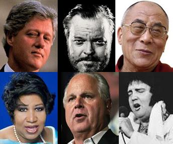 Aretha Franklin / Rush Limbaugh / Elvis Presley