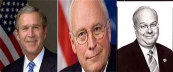 Politicians - Bush Cheney Rowe