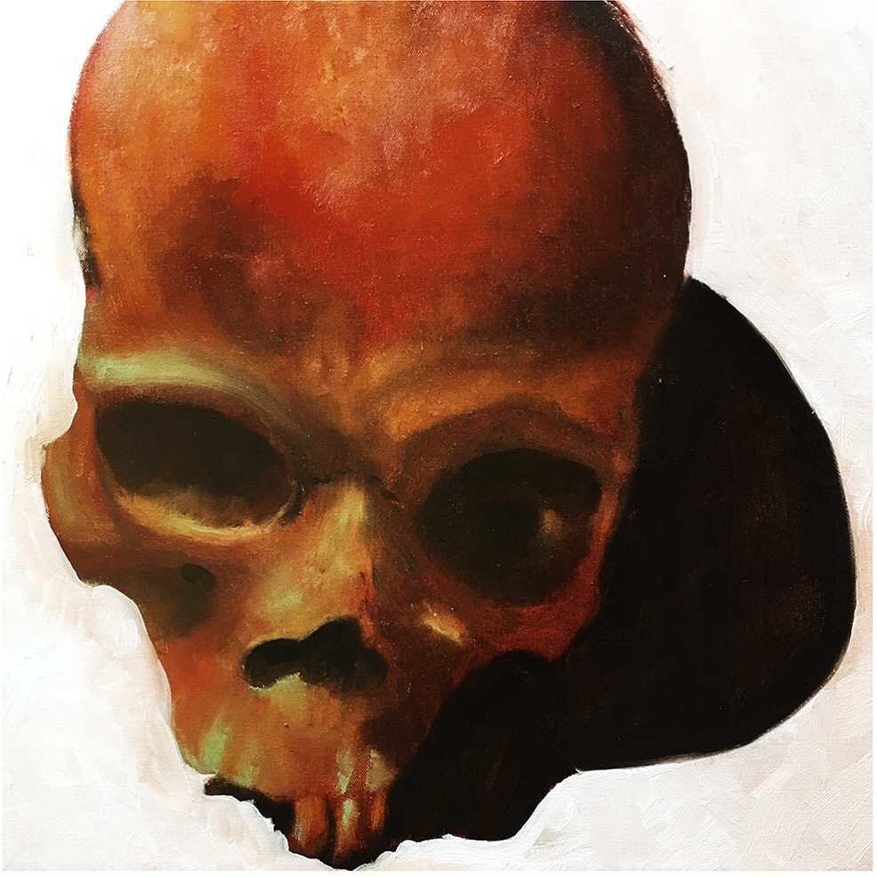 Study of Skull (Oil on Canvas 3x3') SOLD