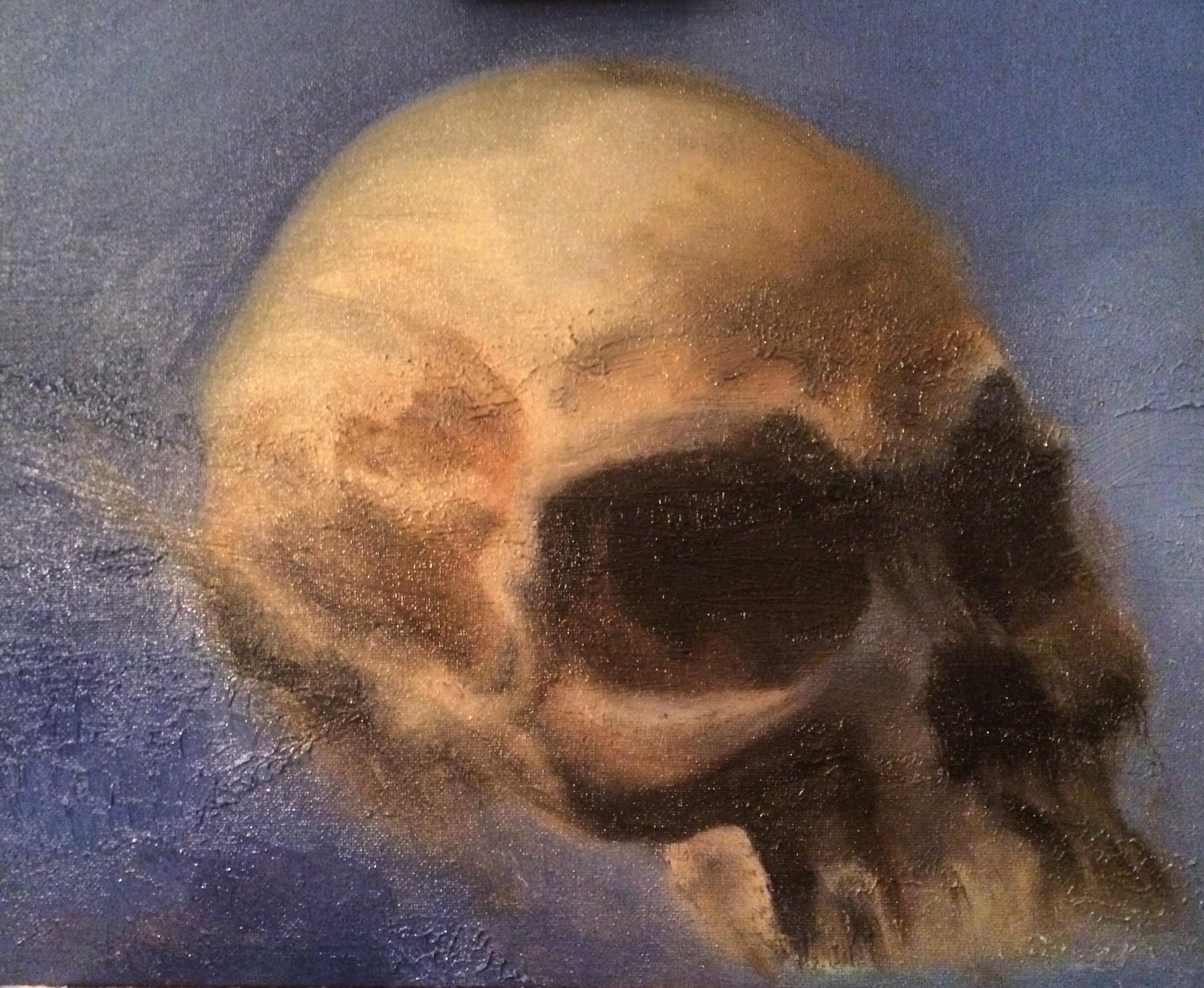Study of Skull (Oil on Canvas 11x14)