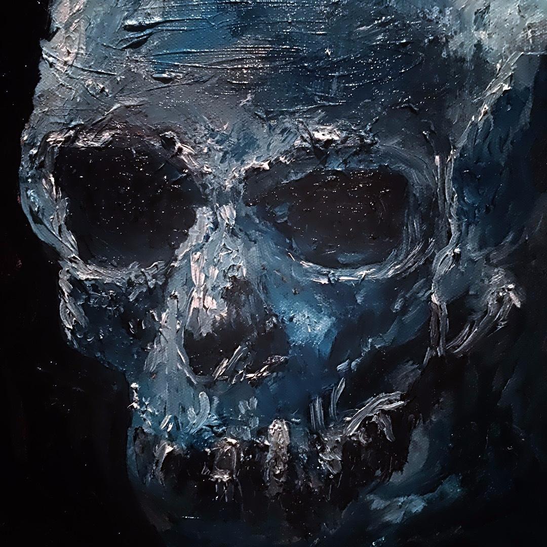 Study of Skull (Oil on Canvas 10x10)