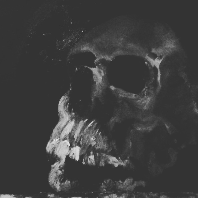 Dark Inside (Oil on Canvas 10X10) SOLD