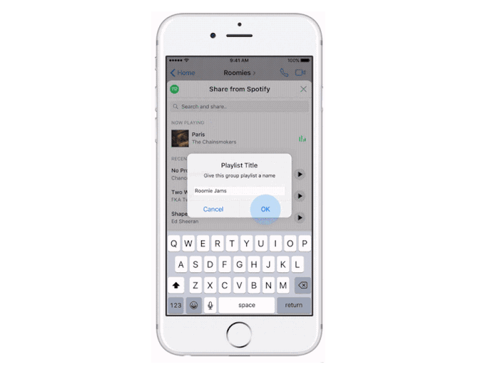 Friends don't need a Spotify account to add songs to the playlist, so it's a fun way for users to spend more time in Messenger. Plus, it's an easy way for Spotify to attract new users from the vast Facebook and Messenger audiences and get them to spend more time streaming tunes.  Sell your Merch  Merchandise listed with Merchbar automatically displays on your artist profile in Spotify.We partnered with Merchbar because they have relationships with a large number of artists, merch companies, record labels, and distributors around the world.If you work with a merch company or your merch is managed by a label or distributor, Merchbar likely has an existing partnership with your provider. All you need to do is ask them to make your merchandise available on Merchbar.  If you manage your merchandise independently,learn more about joining Merchbar here. They have several options for listing your merchandise on their site and on Spotify.  If you or your merch partner already lists merchandise on Merchbar, up to 3 products will automatically be shown on your artist profile on Spotify. If you have more than three products on Merchbar, your profile on Spotify will showcase the best 3 products for maximizing engagement and sales—based on data related to fan interactions,purchases, product availability, and other factors.  For more information on how to start selling merchandise and vinyl on Spotify or to find out if your merch company is a Merchbar partner,check out  Merchbar's website .  Tour Details  Spotify has partnered with Ticketmaster, Songkick, Eventbrite, and AXS to promote and recommend your concerts to fans on Spotify.  All you have to do is list a concert with one of them.Spotify will automatically display it on Spotify for listeners in the cities you're playing—in the  Concerts section of  Browse and on your artist profile, right under your most popular tracks.Spotify will also include it in our biweekly concert recommendation emails. When fans decide to buy ticket