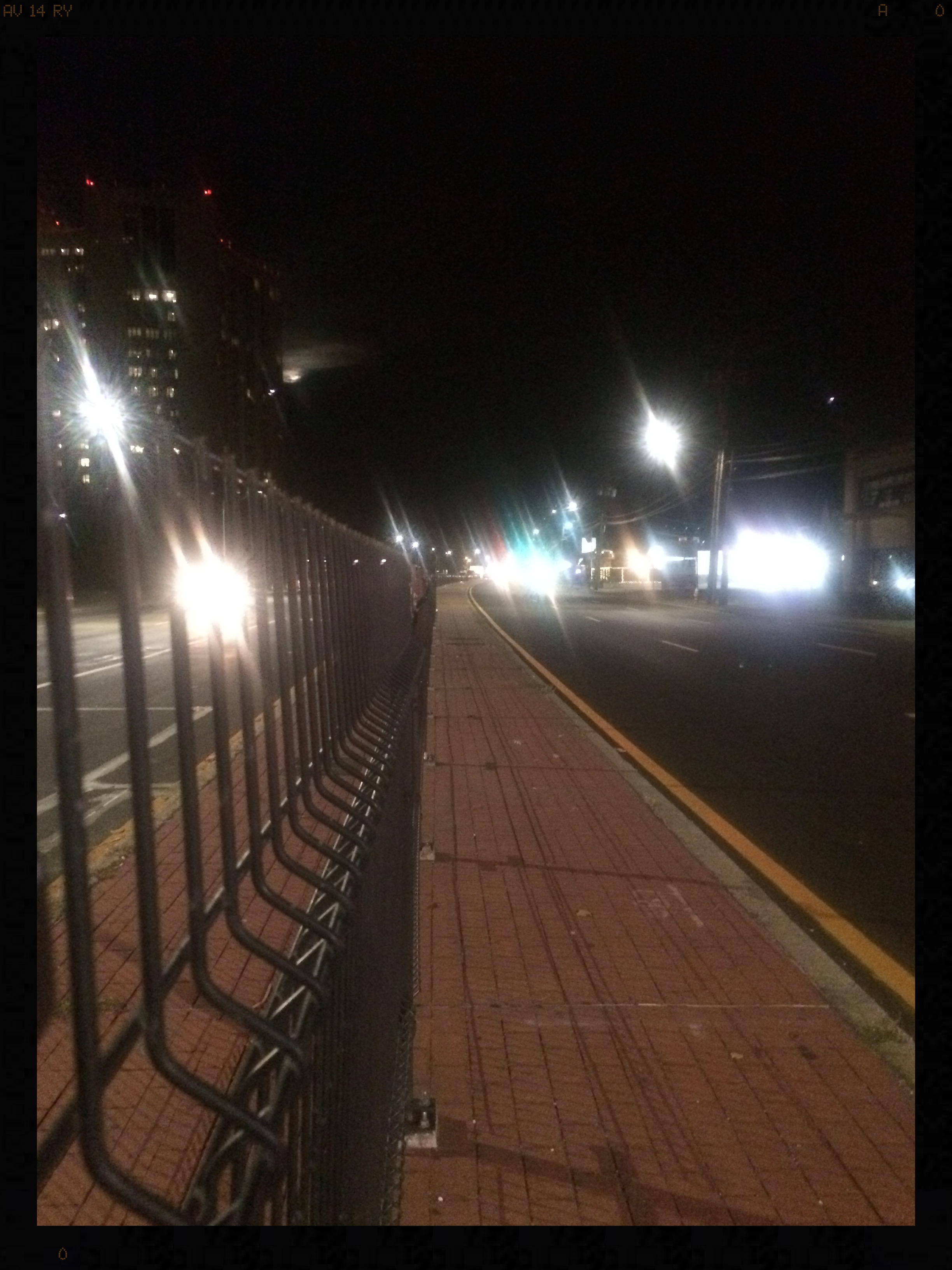 Fence erected between east and westbound lanes on Hempstead Turnpike in front of NUMC.