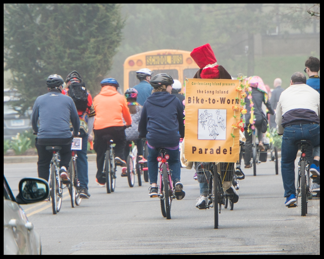 Bicyclists on Parade! (Photo credit, Amy Fruschour Kelly)