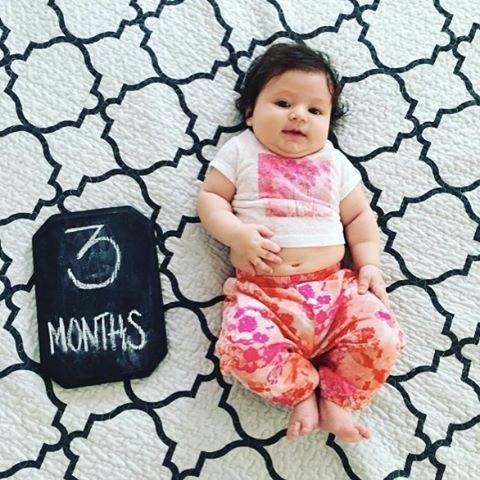Nola, we just want to tickle that tummy! Happy 3 months! 📷 : @nataleed #ACrockstar #babyfashion #babygirl #minifashionista #babiesofinstagram