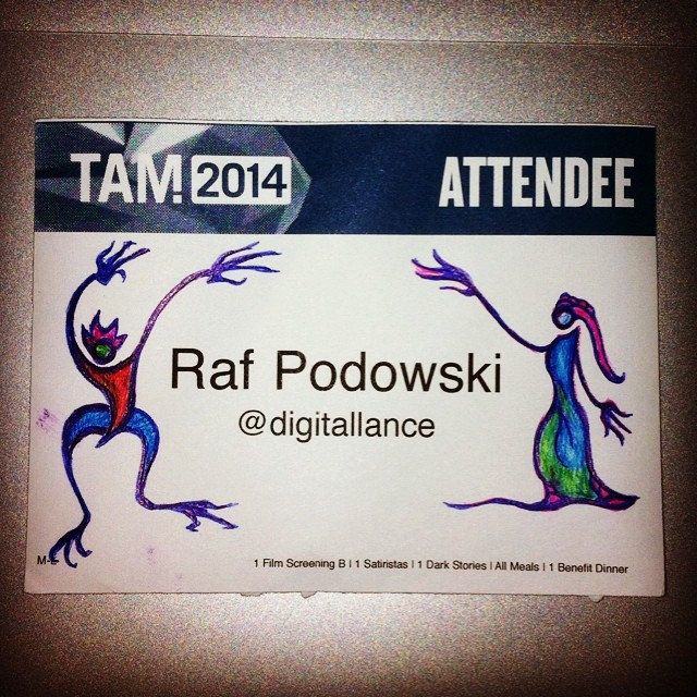Good bye #TAM2014, old friends and new. Hope to be back next year.