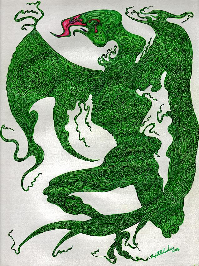Green Manalishi. A manifestation of madness and chaos.