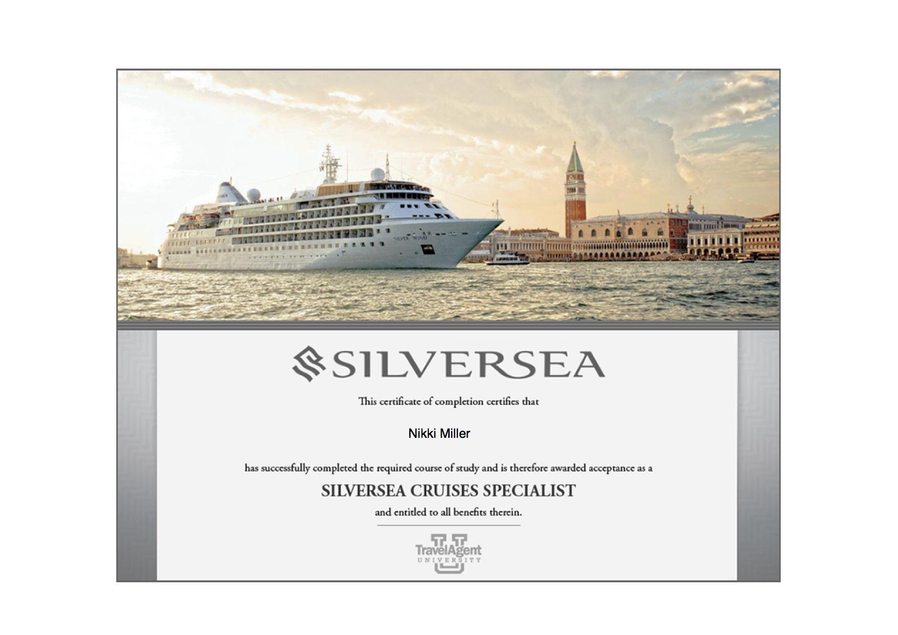 Silversea Specialist - Silversea Diploma - 2014-04-03.png