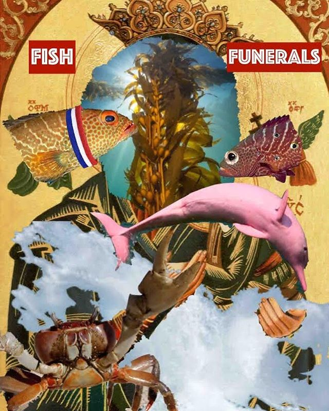 """A group of ragtag mutilated and idealistic fish living in the polluted gulf protest for their right to be alive to their god, Brightboy, the Sun."" . . . Come see HPI alum Genevieve Farbe's ('18) senior project, Fish Funerals, this week and next at @universityofthearts! @genfarbe #philadelphia #hpialum #phillyartist #phillytheater #fishy #awesome"
