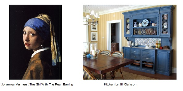 Example how understanding color, and principles & elements of design is translated in both art and interior design.