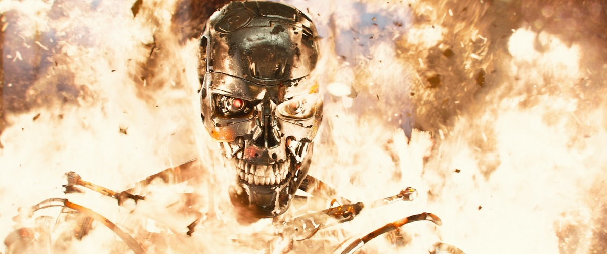 This is one of the first images that show up when you Bing   Terminator: Genisys  . This will be a relevant point shortly.