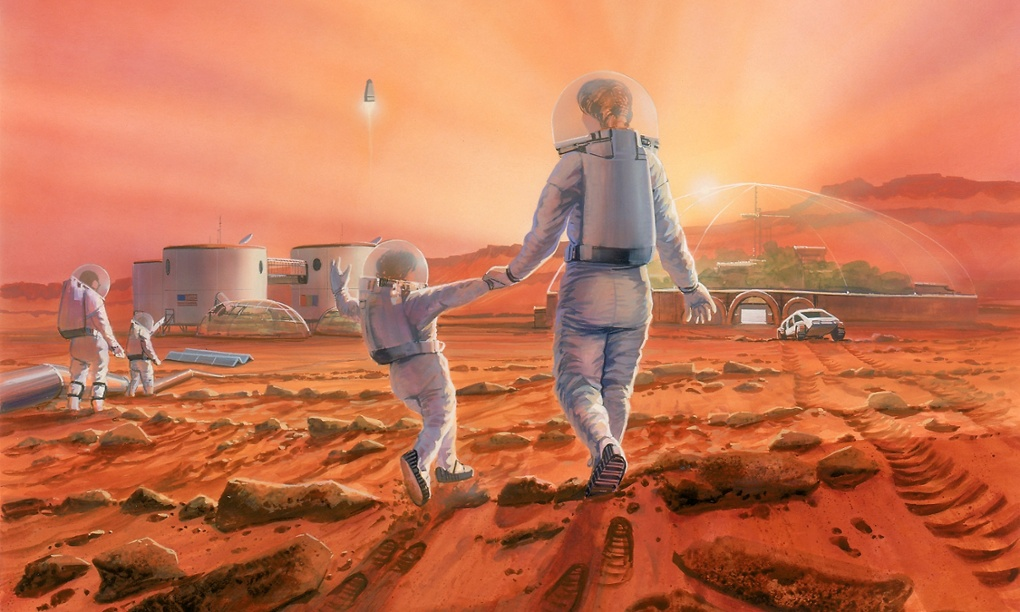 Mars colony (Illustration: Robert Murray/Mars Society)