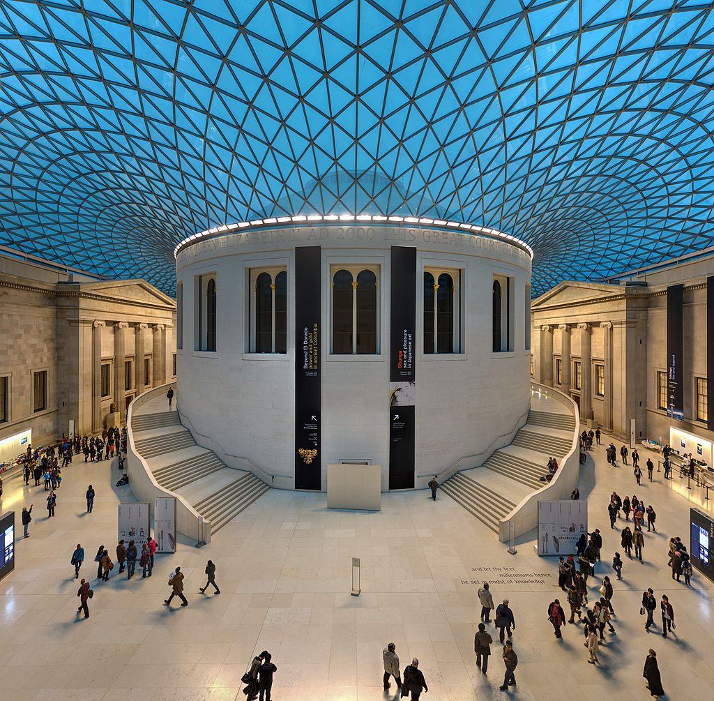 Great Court of the British Museum, London. (Image:  Wikipedia )