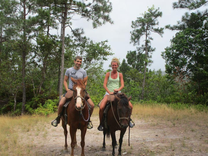Honeymooning on horses.