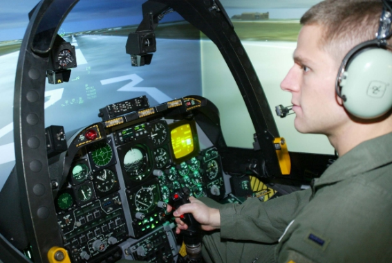 The Air Force uses virtual reality to create flight simulators for training. (via   Tweak Town  )