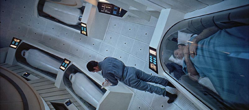 Part of the crew in suspended animation during the trip to Jupiter,    2001: A Space Odyssey   .