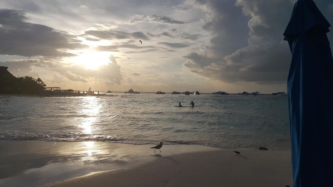 Beach sunset at the Mia