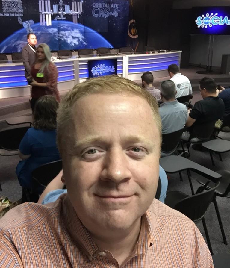 Me, in the NASA KSC Media Center