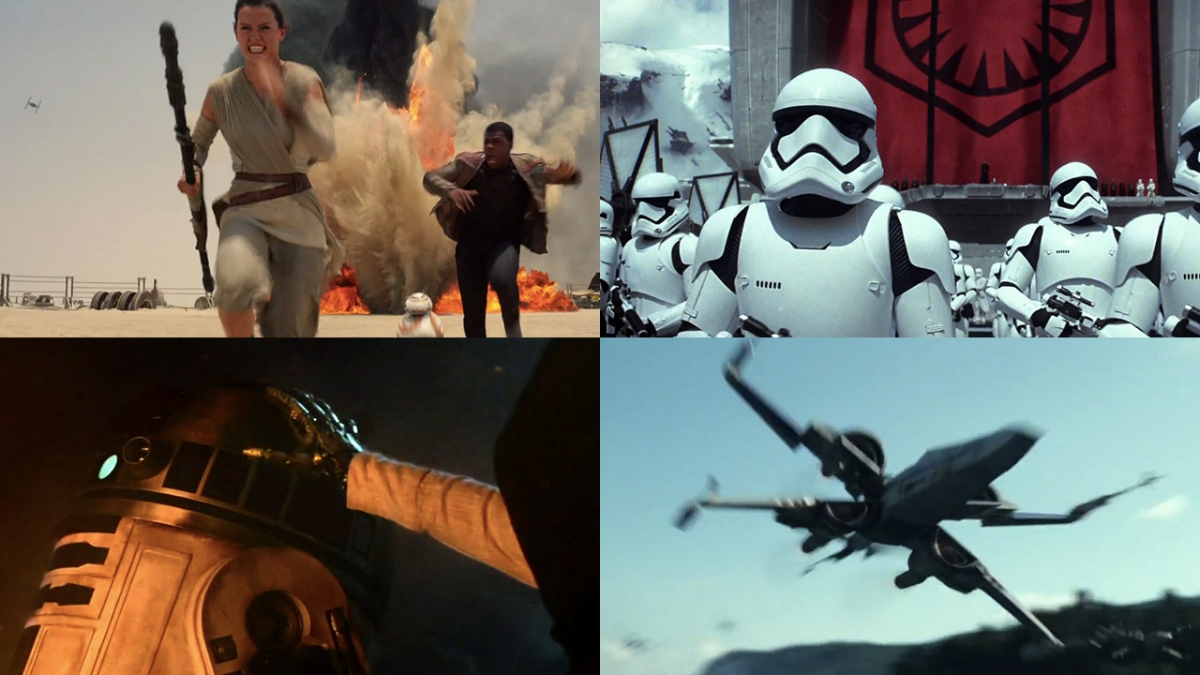 Scenes From The Force Awakens Trailers