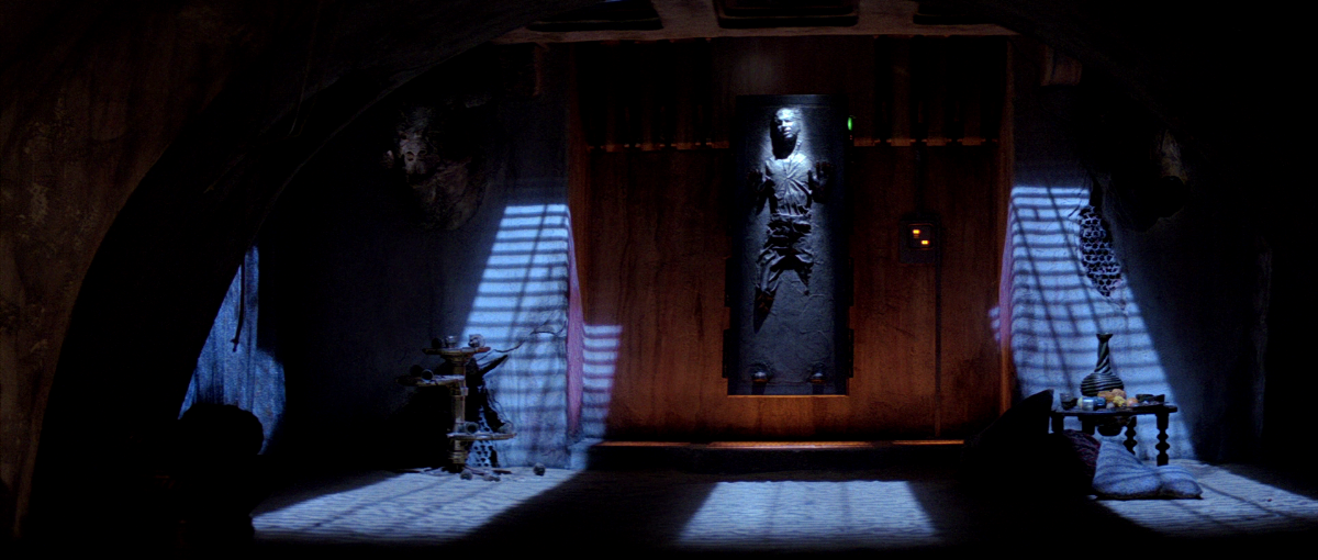 Han Solo suspended in carbonite,    Return of the Jedi   .