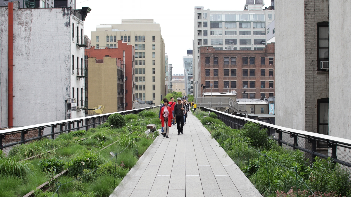 People walk along the High Line just south of the 30th Street intersection.  (All Photos by Ryan Schnurr)