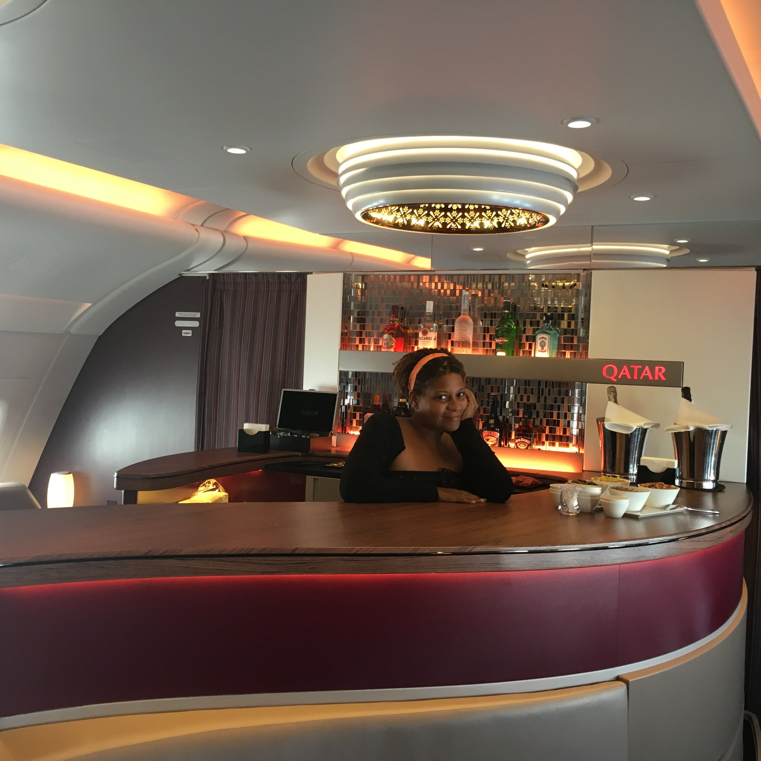 Cocktail Lounge on Flight
