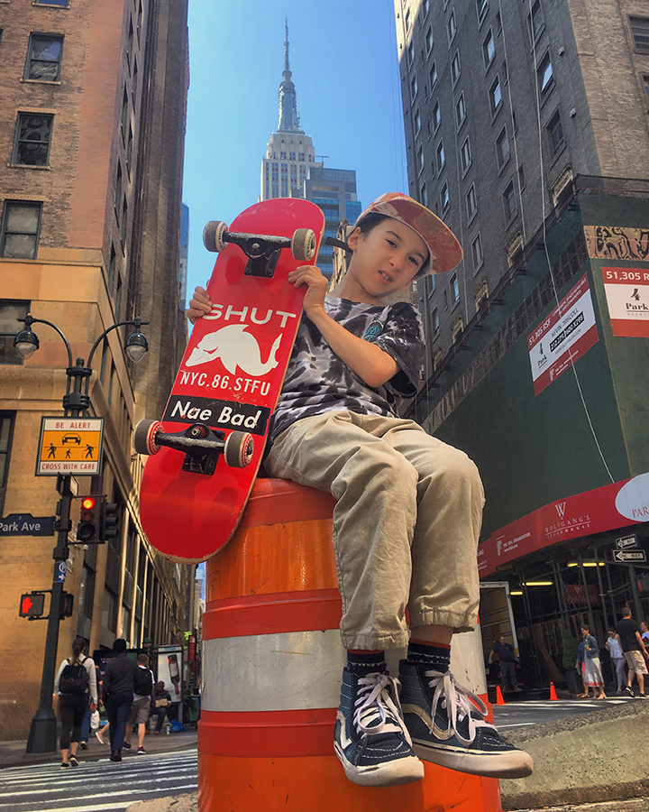 Luca Mayer - Luca Mayer, age 8, will be teaching skating with us this summer. Luca skates for Shut NYC skates and has been skating since he was 2 years old.