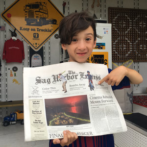 Sag Harbor Express - Click HERE to read about our story Kids, Bikes and Dirt on the Pump Track at Hayground by Emily J. Weitz in the Sag Harbor Express from 2017, with Luca on the cover of the paper…