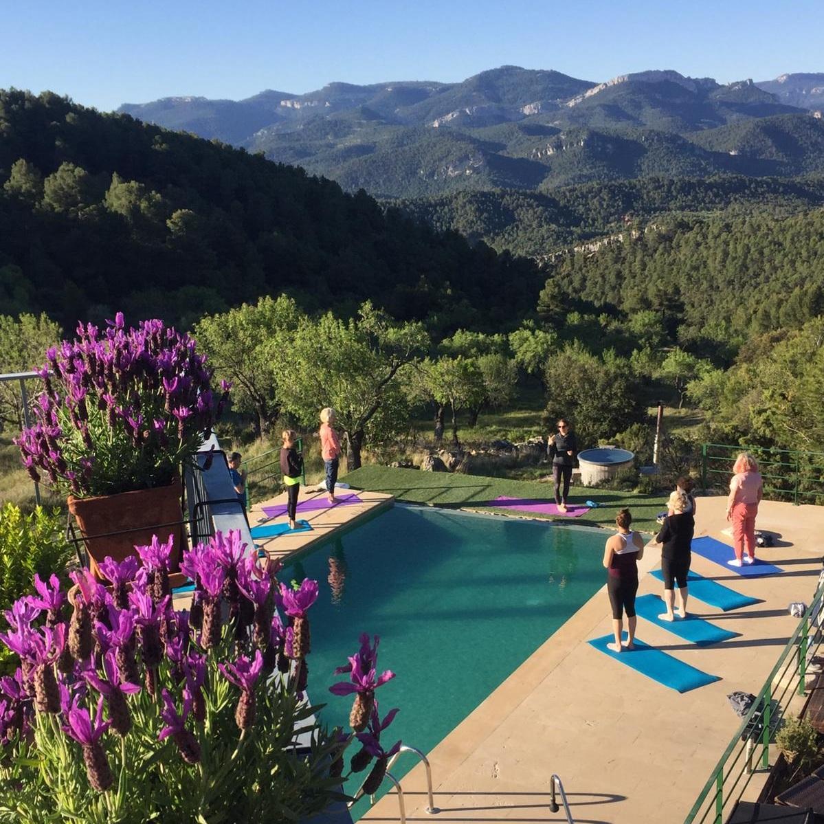 luxury yoga wilderness retreat Spain