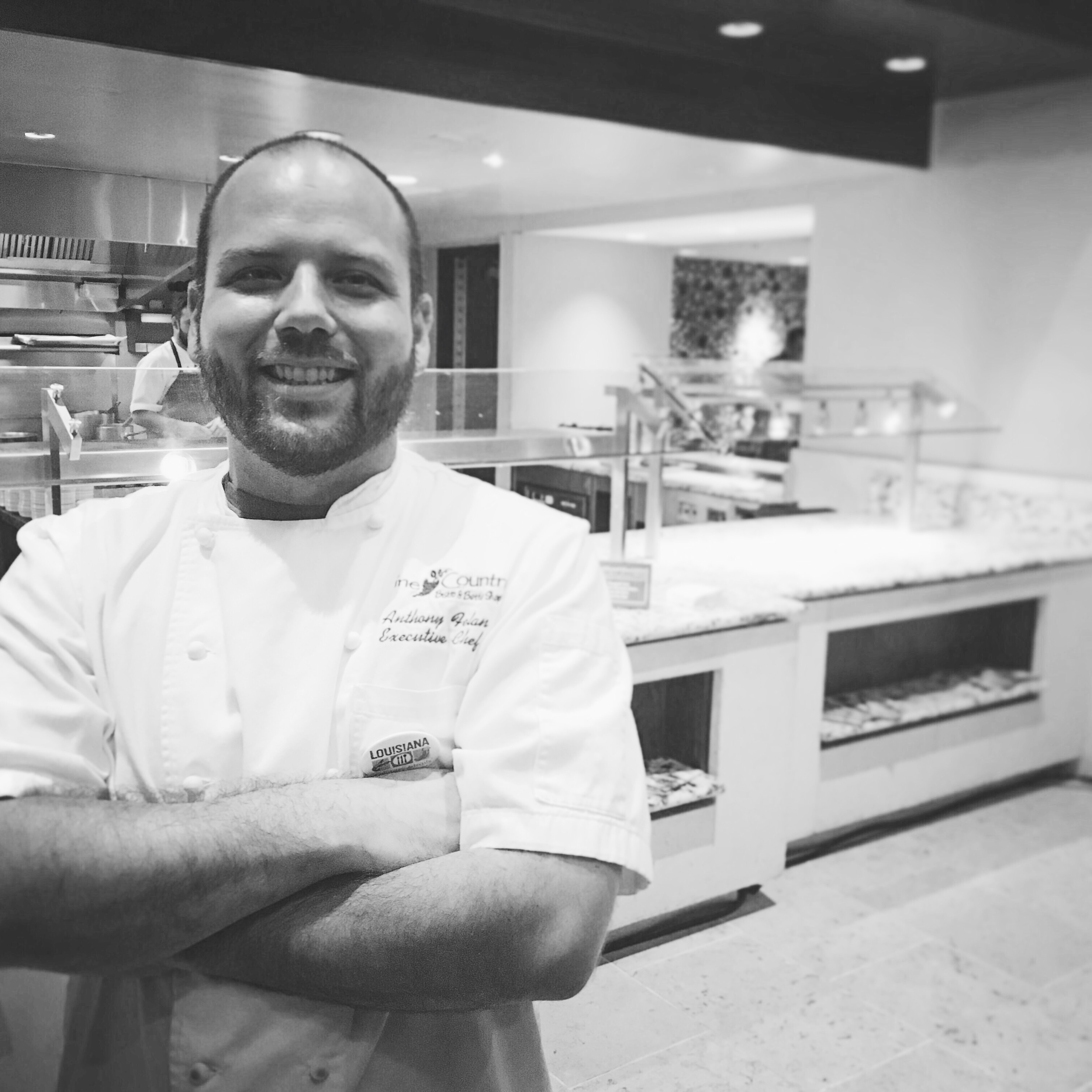 Chef Anthony Felan of  Wine Country Bistro & Bottle Shop  in Shreveport, Lousiana.  He'll be partnering with Chef Christopher Wilson at The Carillon inside the AT&T Center on UT's Campus here in Austin for Louisiana-LoneStar.