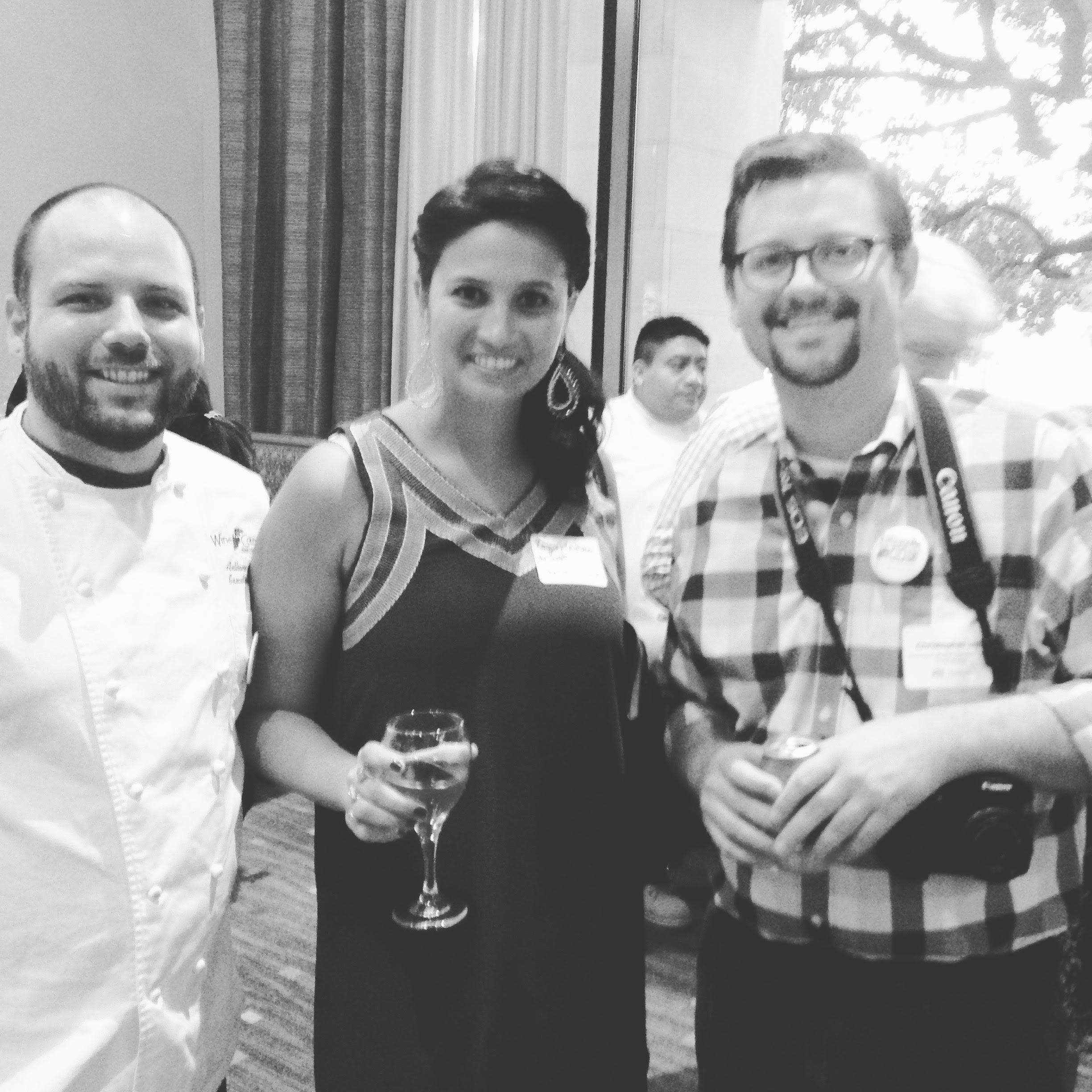 from left: Chef Felan, ME, and Chris Jay from the  Shreveport-Bossier Convention & Tourist Bureau